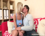Young Busty Blonde Loves Sex - scene 1