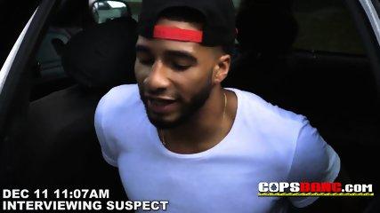 Cell phone thief hiding under a van is taken to milf cops spot