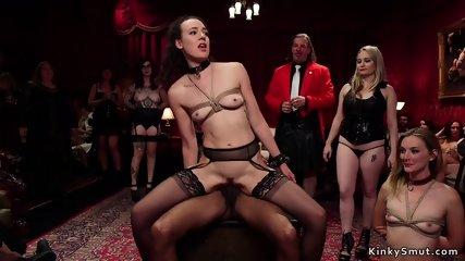 Lesbian slaves anal interracial fucking