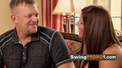 Couple manages to shake away what concerns them before the swingers party