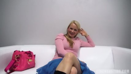 Lovely Blonde Amateur At The Casting