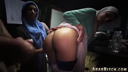 White girl loves muslim immigrant and arab star Sneaking in the Base!