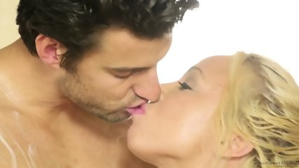 Two Horny Blondes And One Hard Cock - scene 3