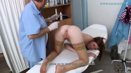 Babe With Stockings Gets Gyno Exam - scene 8