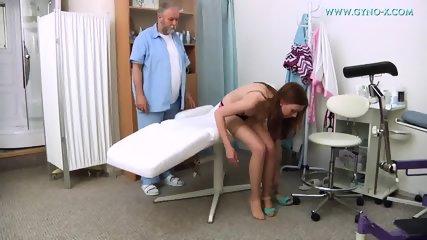 Babe With Stockings Gets Gyno Exam - scene 2