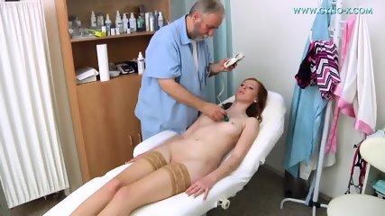 Babe With Stockings Gets Gyno Exam - scene 3