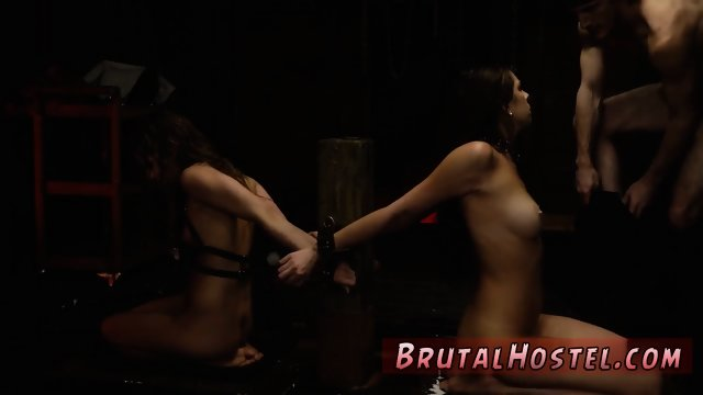 Self bondage goes wrong and bdsm fucking ass first time Two young sluts, Sydney Cole and