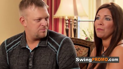 Shy swingers has their nerves put at ease by steamy swing hostess