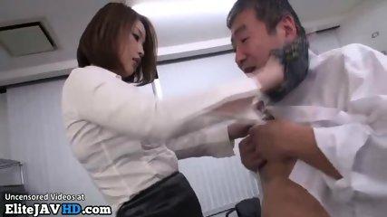 Japanese sexy teacher fucks co worker