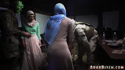Hot arab teen and bathroom first time Sneaking in the Base!