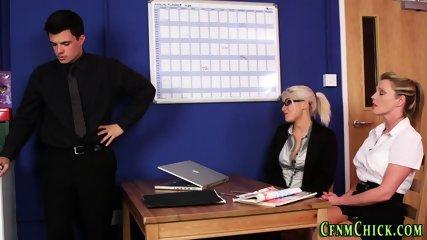 Clothed mistresses jerk
