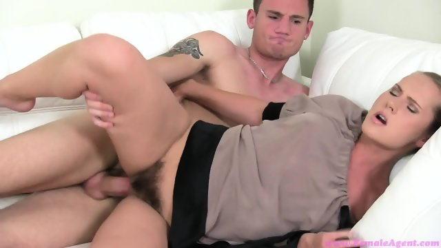 Femaleagent blonde horny agent sucks and fucks studs cock 10