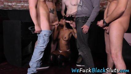Cock sucking black whore
