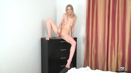 Naughty Blonde Takes Off Clothes