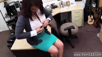 Teen fingers ass first time MILF sells her husband s stuff for bail $$$