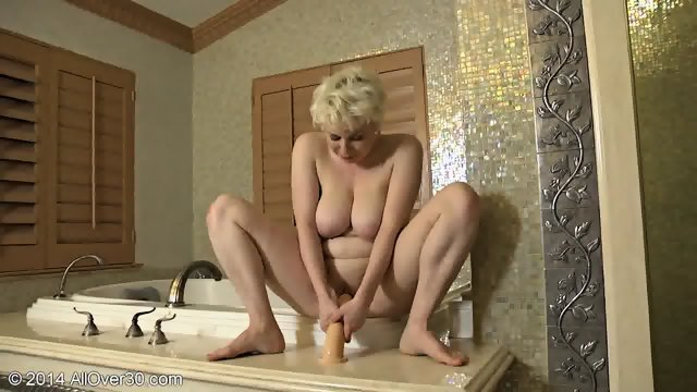 Busty Mommy Alone In The Bathroom