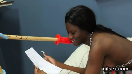 Flirty nympho was brought in butthole assylum for uninhibited treatment