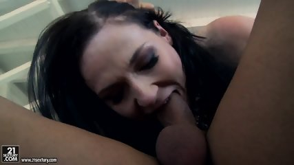 Brunette With Leather Corset And High-heels Gets Fucked In Ass And Creampied - scene 11