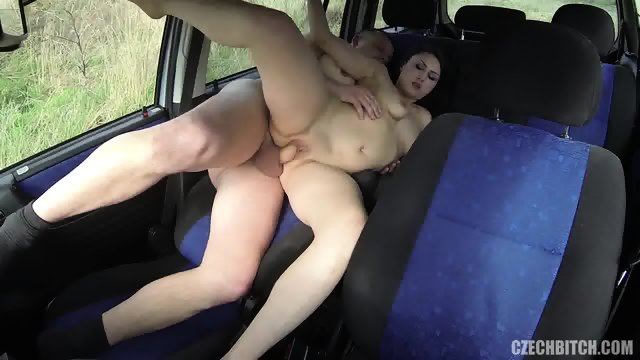 European Bitch Rammed Hard In The Car