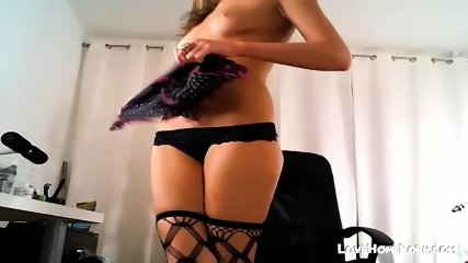Sexy Blond In Black Lingerie Fucks Ass - scene 12