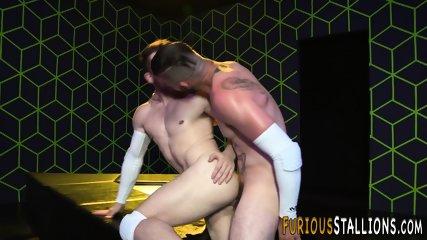 Strapping hunk bangs hole