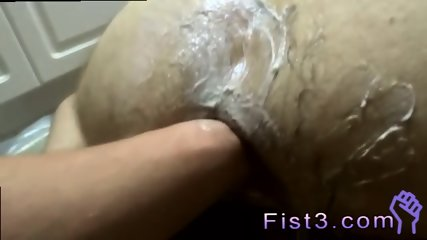 Skinny gay fisting and boy slave extreme group Saline & a Fist