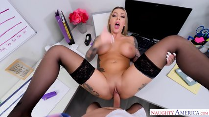 Busty Girl Fucked Hard On Desk