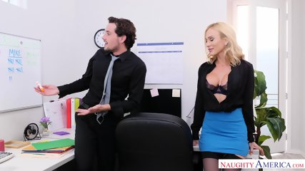 Action In Office With Busty Inked Whore - scene 2
