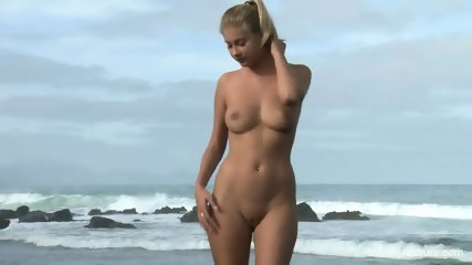 Naked Blonde On The Beach - scene 10