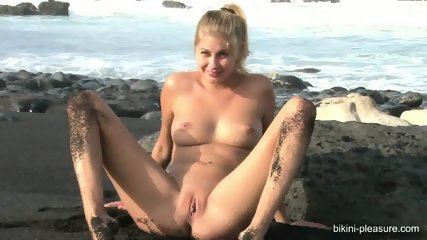 Naked Blonde On The Beach - scene 12