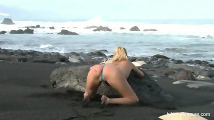 Naked Blonde On The Beach - scene 4