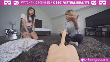 VRBangers.com - Flawless Asian Virgin Rides a sex Doll for the first time Orgasm