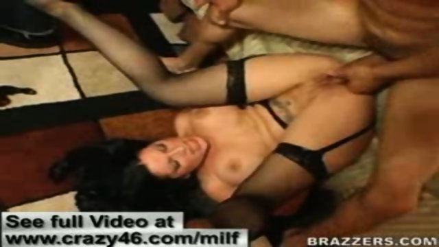 MILF gets pounded by her hubbys coworker big dick