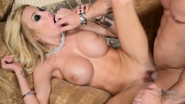 On Sofa With Big Titty Blonde
