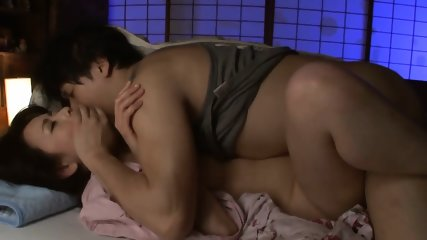 JAV Stepmom Cheating With Son Right Next To Her Old Husband - scene 7