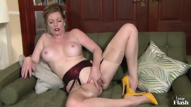Horny Mommy Takes Off Clothes