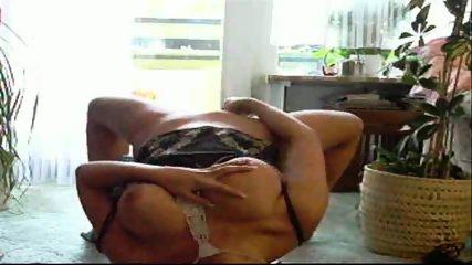 Amateur brunette teases and masturbates - scene 12