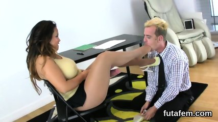 Girls fuck men anal hole with enormous strap-ons and squirt ejaculate