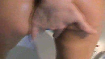 Tight chick gets a quick bathroom fuck - scene 1