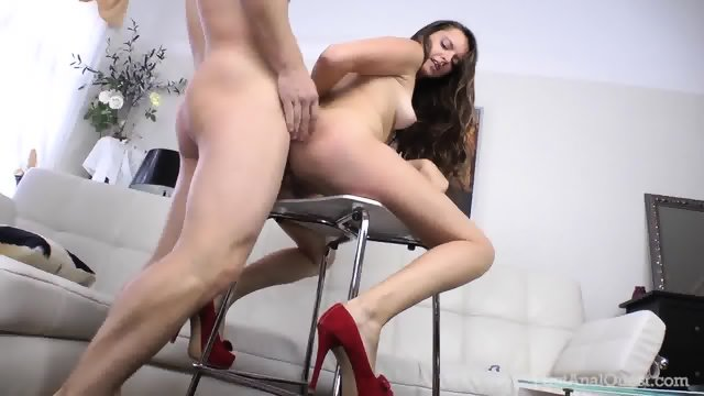 Girl With Red High-heels Gets Banged In Ass