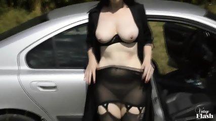 Kinky Amateur Masturbates In Public - scene 12