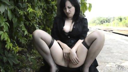 Kinky Amateur Masturbates In Public - scene 5
