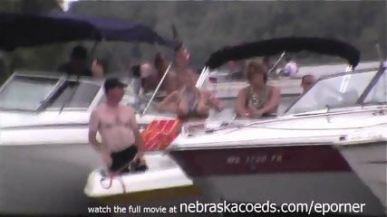 Many Random Women Flashing Their Perfect Tits On Lake In Missouri - scene 10