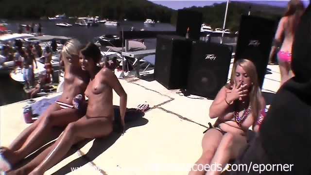 Drinking Beer And Partying Naked In The Sun