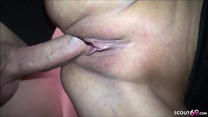 GERMAN TEEN Dani Seduce to Fuck by 2 Guys in Changing Room
