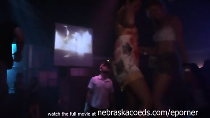 Posh Party Girl Getting Naked In Back Room Of Club After Dancing Slutty And Upskirt - scene 2