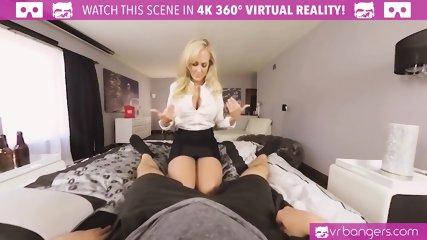 VRBangers.com Sexy MILF Brandi Love Is Sticking a Big Vibrator in Her Wet Pink Pussy