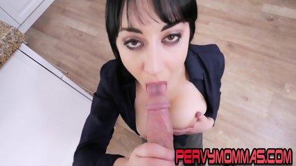Big tittied milf tugging