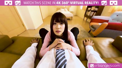 VRBangers.com Young Japanese Babe Is Getting Her Pussy Open in the Morning