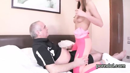 Fervent college girl gets teased and rode by older lecturer - scene 3